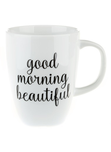 Morhipo Home Good Morning Beautiful - Çift Taraflı Kupa Beyaz